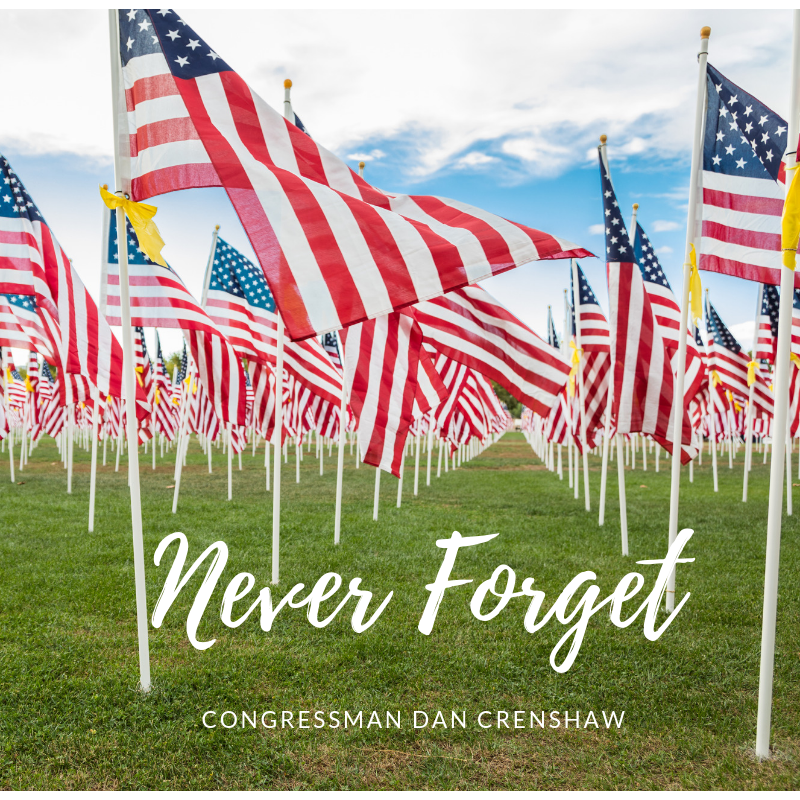 """Never Forget"": Dan Crenshaw, Veteran's Day, and Civility"